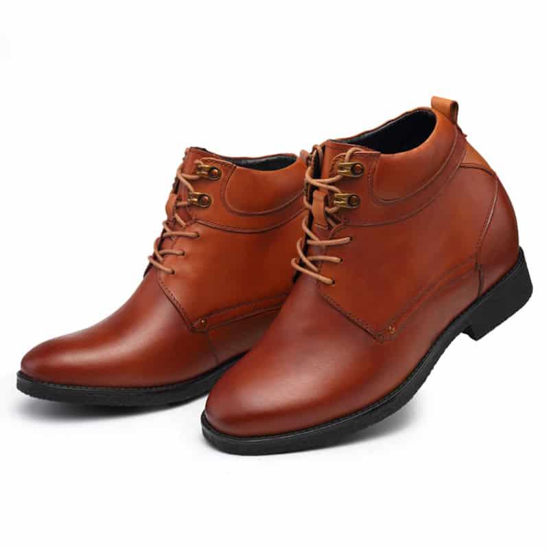 נעליים מגביהות בצבע חום