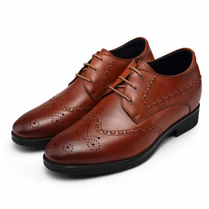 נעלי הגבהה מעור חום